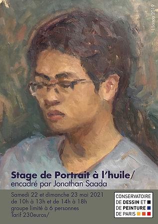 affiche-stage-portrait2021 jonathan Saad