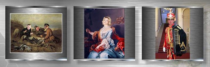 стилизованные портреты на холсте