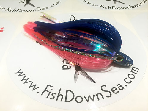 Blue and Pink Fish Downsea 2 ounce Tuna Flare