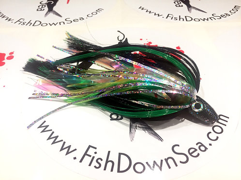 Black and Green Fish Downsea 2 ounce Tuna Flare