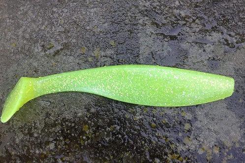 Chartreuse Glittered Fish Downsea Striped Bass Shad Body