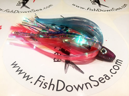 Downsea Blue and Pink 2 ounce Fish Downsea Tuna Flare