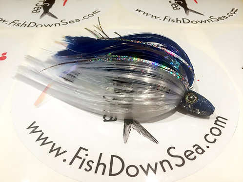 Blue and White Fish Downsea 2 ounce Tuna Flare