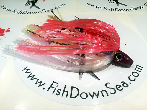 Pink and White Fish Downsea 2 ounce Tuna Flare