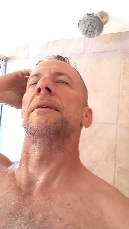 Morozko Forge CEO Thomas P Seager, PhD under a cold shower.