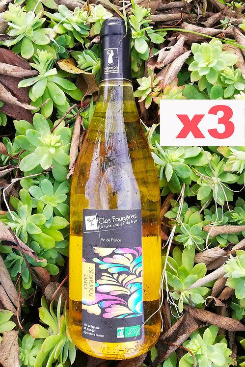 Cuvée Fougueuse 2019 - Vin de France - Blanc x3