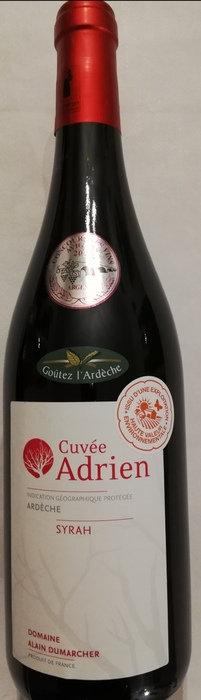 Syrah Cuvée Adrien 2018 - IGP Ardèche - Rouge