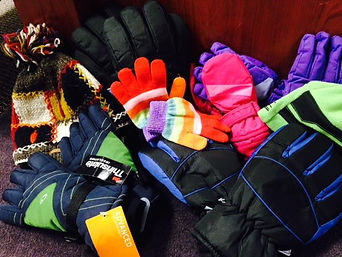 WeCAN Mound MN Donated Items Mittens Hats Scarves