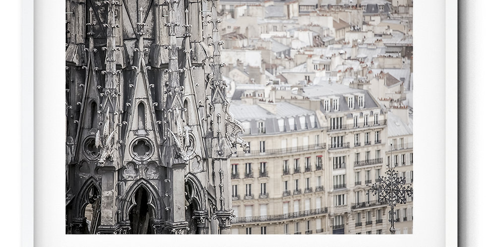 The spire of Notre Dame