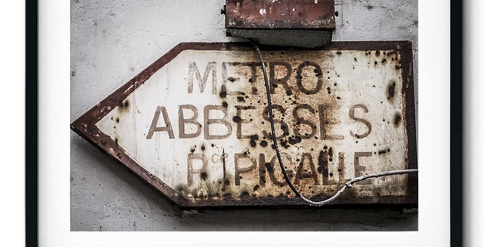 Metro Abbesses sign