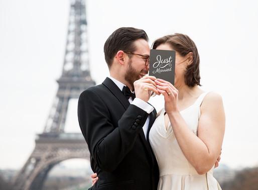 a winter wedding in paris ♥