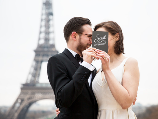 a winter wedding in paris ♥