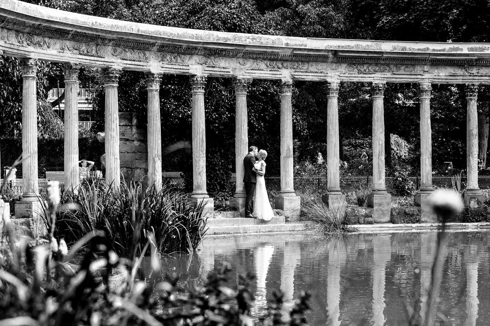 Wedding at Parc Monceau, Paris