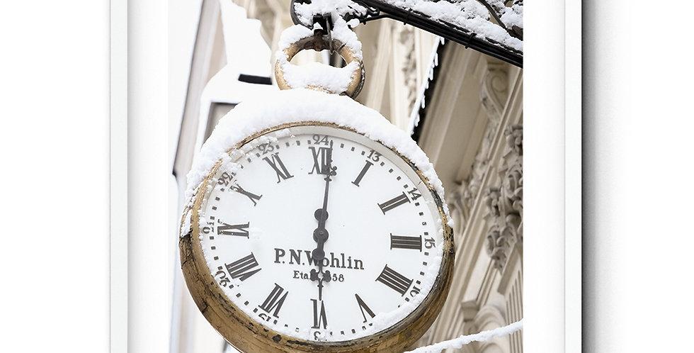 Klocka i snö