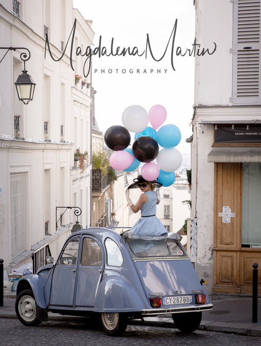 2CV, 2 cv in Paris, balloons