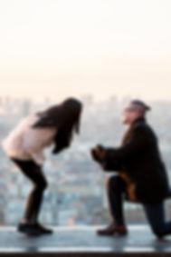 Proposal in Paris, engagement in Paris,