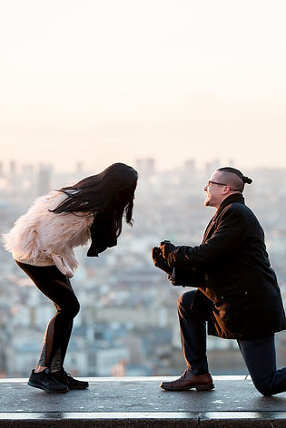 Proposal in Paris, engagement in Paris,