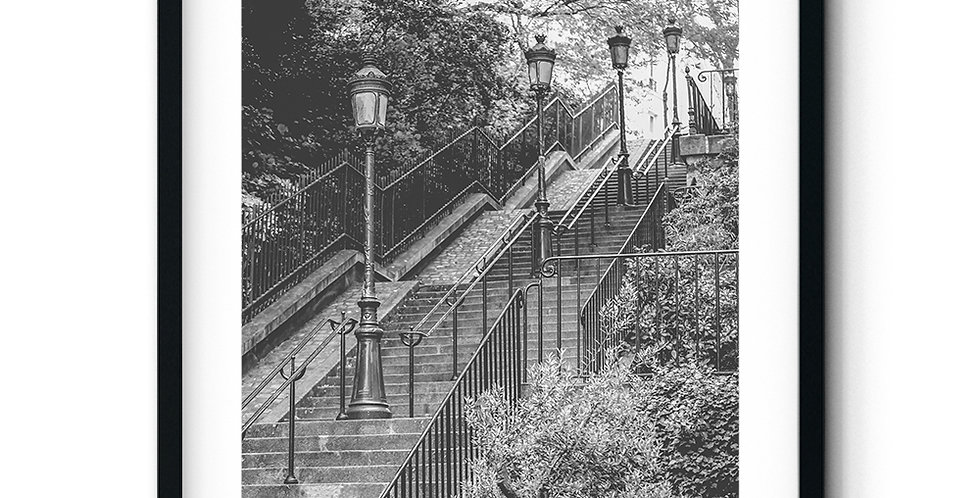 Stairs in Montmartre