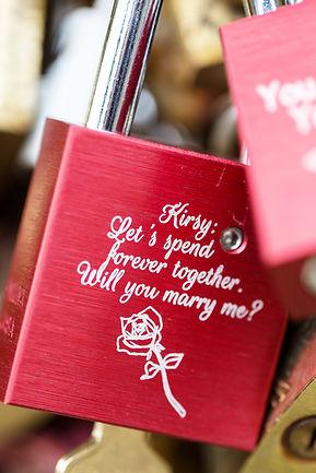 Proposal in Paris, proposal, love lock,