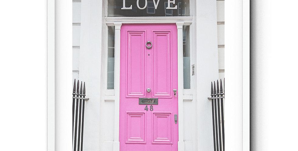 Pink love door