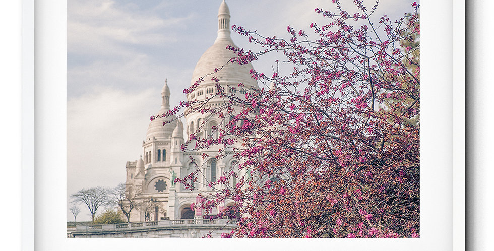 Sacré-Cœur in the spring