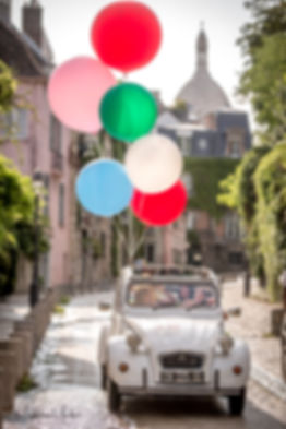balloons and 2cv in Paris