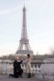 proposal in Paris, engagment in Paris