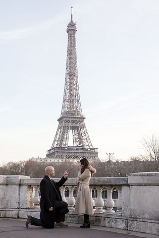 proposal in Paris, engagment in Paris