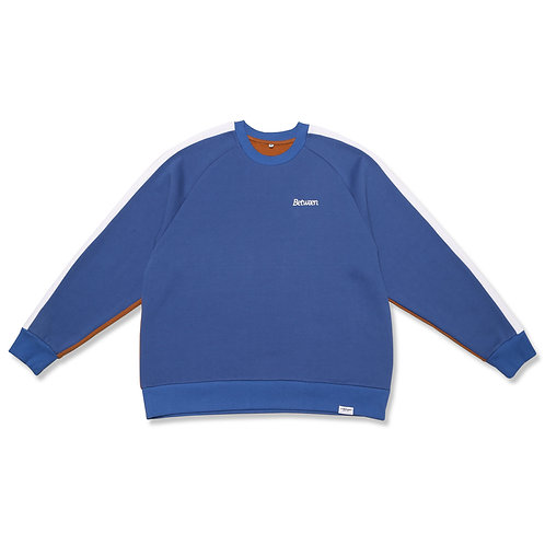 Two-Tone Crewneck Sweater Blue/Brown