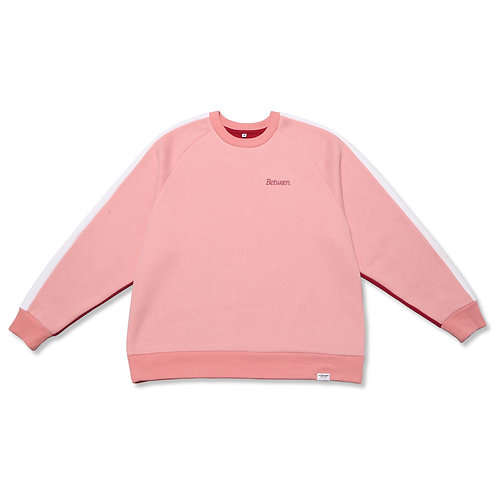 Two-Tone Crewneck Sweater Pink/Wine