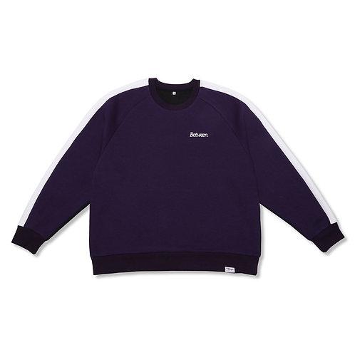 Two-Tone Crewneck Sweater Purple/Black
