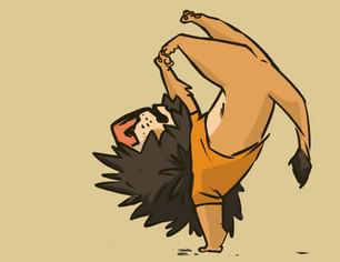 Breakdancin Lion