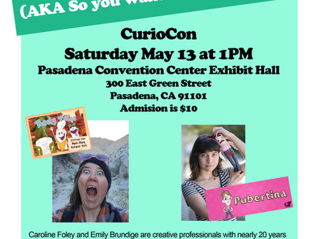 Come To My Panel at Curio-Con!