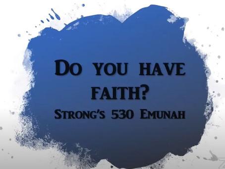 Do You Have Faith (EMUNAH)?