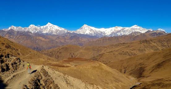 Dhaulagiri Range from Phalgune Pass - Makalu seen from Sherpani Col - Dhorpatan National Park - Baglung District