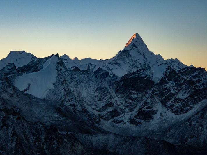 First light touching Ama Dablam - Sagarmatha National Park - Solukhumbu District