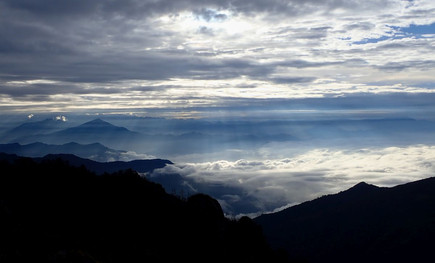 Sunrise from the Milke Danda - Sankhuwasabha District
