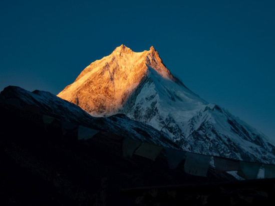 Manaslu at Sunrise - Sama - Manaslu Conservation Area - Gorkha District