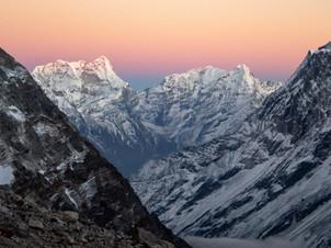 Sunset - near tashi Labsta Pass - Gaurishankar Conservation Area - Dolakha District
