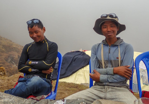 Pemba and Mingma, our guides over the high passes - near Lukla - Solukhumbu District