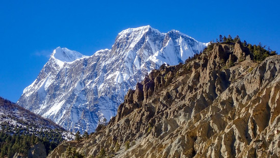 View of Annapurna III - Chame - Manang District