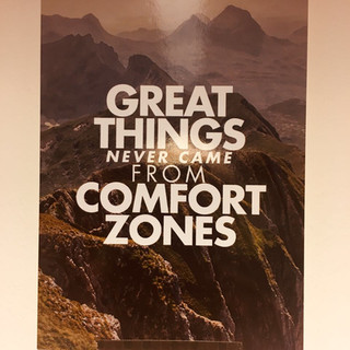 great things never come from comfortzone