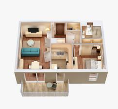 Proposed Layout Mr. Mathew Davis (3D Layout ) - Kochi