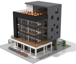 OFFICE BUILDING 3D LAYOUT PROPOSAL ( GOA)