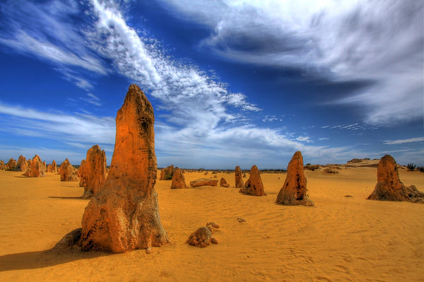Pinnacles Desert, Cervantes. Photo Credi