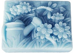 Flowers and Watering Can Scene Mold 4C.j