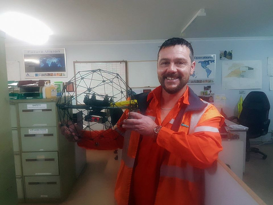 DIWA Managing Director with ELIOS Drone