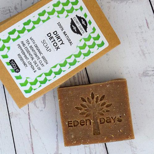 Dirty Detox Soap - Peppermint, Lemon, Rosemary, Green Tea & Bentonite Clay