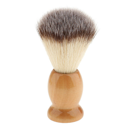 Wooden Shave Brush - Synthetic Fibres