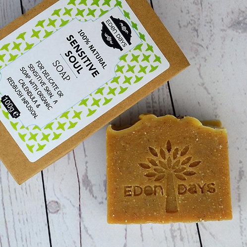 Sensitive Soul Soap   -  Infused with Organic Redbush & Calendula Botanicals